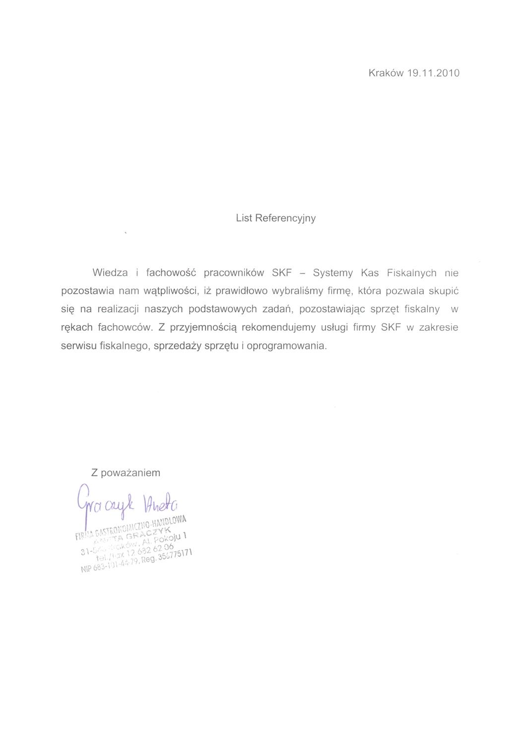 Firma Gastronomiczno-Handlowa Aneta Graczyk
